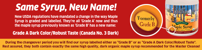 maple syup grade name changing from b to a dark color robust taste